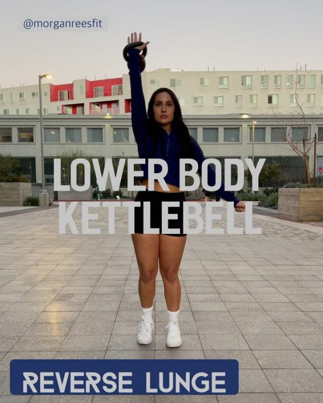 LOWER BODY KETTLEBELL (GLUTE FOCUSED) 1. Reverse lunge- hinging forward up top will help this become more glute focused. You'll notice when I step back I lean forward without allowing my knee to move forward. 2. Side lunge- sit back on your heel to keep the glute firing! Load the foot in order to lift yourself back up to a standing position. 3. Single leg deadlift- make sure on your way up that you contract your entire standing leg! Don't let the moving leg take over for balance when you stand to neutral. If you haven't tried these before I suggest using very low weight. Until you improve form. Top: @fabletics  Bottom: @lululemon  Shoes: @puma @pumawomen  Thanks to @rach_digangi for the video!! #fitspo #fitfam #workoutmotivation #workout #inspiration #motivation #balance #fit #exercise #gym #physique #dedication #fitspiration #healthylifestyle #health #abs #fitgirls #personaltrainer #fibromyalgia #fibro #bodyweight #latrainer #homeworkout #core #HIIT #glutes #gluteworkout #kettlebell